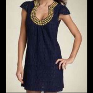 Trina Turk blue Backgammon Dress